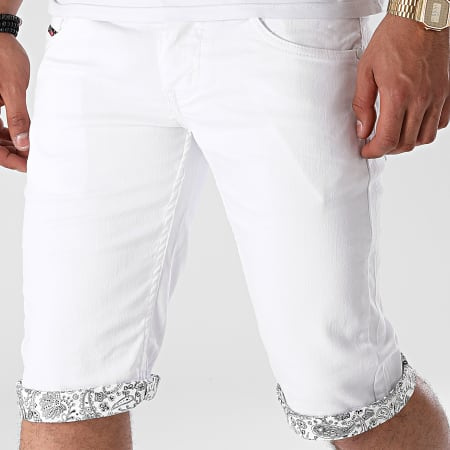 Mackten - Short Jean JS531 Blanc