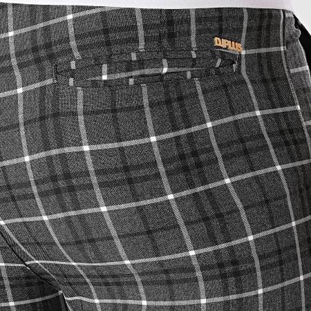 Mackten - Pantalon Carreaux DJ506 Gris Anthracite Chiné