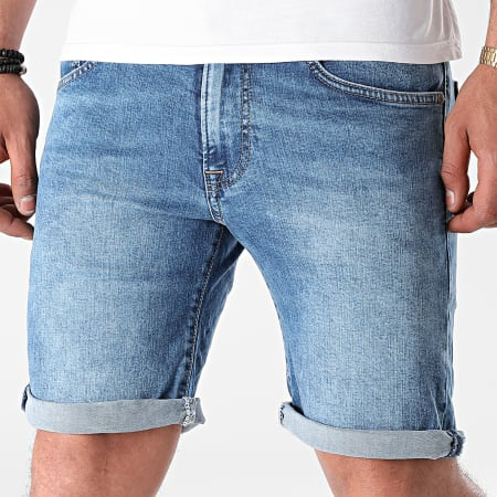 Pepe Jeans - Short Jean Slim Cane PM800543 Bleu Denim
