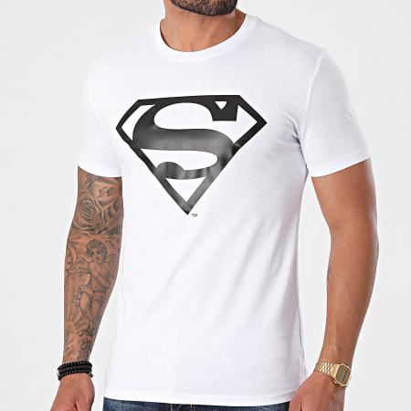 Superman - Tee Shirt Logo Blanc Noir