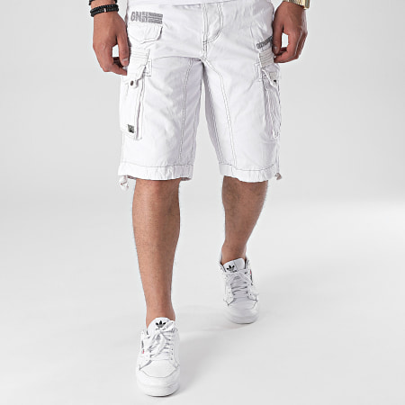 Geographical Norway - Short Cargo Panoramique Blanc