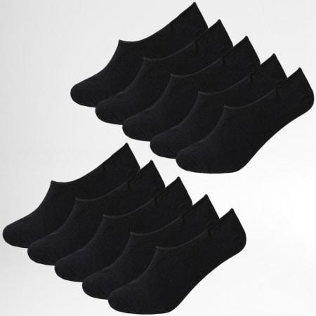 Jack And Jones - Lot De 10 Paires De Socquettes Basic 12192330 Noir