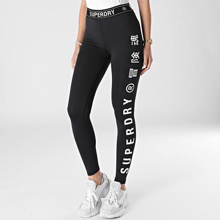 Superdry - Legging Femme Training Elastic WS310627A Noir