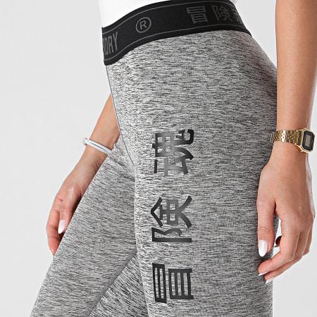 Superdry - Legging Femme Training Elastic WS310627A Gris Chiné