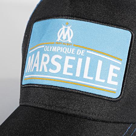 OM - Casquette Trucker M20082 Noir Bleu