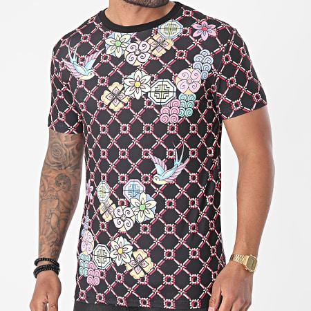 Uniplay - Tee Shirt A Carreaux UY629 Noir Floral