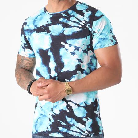 Uniplay - Tee Shirt T762 Bleu Clair Bleu Marine