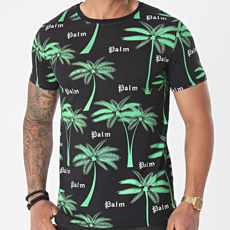Uniplay - Tee Shirt T760 Noir Floral