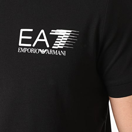 EA7 Emporio Armani - Polo Manches Courtes 3KPF21-PJ02Z Noir