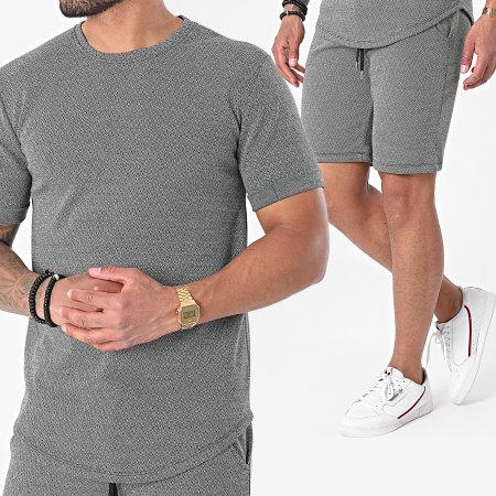 Frilivin - Ensemble Tee Shirt Oversize Short 25238 Gris Chiné