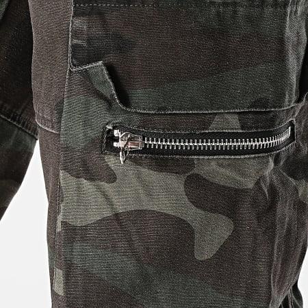 Frilivin - Pantalon Cargo BM1305 Vert Kaki Camouflage