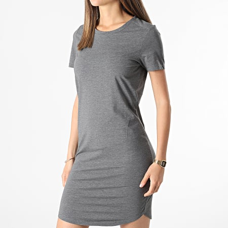 Noisy May - Robe Femme Everly Gris Anthracite Chiné
