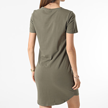 Noisy May - Robe Tee Shirt Femme Simma Vert Kaki