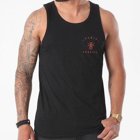 Anthill - Débardeur Chest Logo Noir Rouge