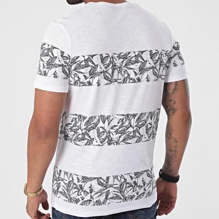 Jack And Jones - Tee Shirt A Rayures Monday Blanc Floral