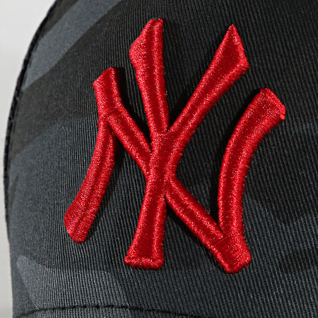 New Era - Casquette Trucker Enfant 9Forty Camo 60137472 New York Yankees Gris Anthracite