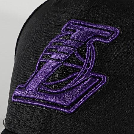 New Era - Casquette 9Forty Mesh Underlay 60137607 Los Angeles Lakers Noir Violet