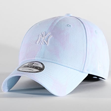 New Era - Casquette 9Forty Tie Dye 60139750 New York Yankees Bleu Clair