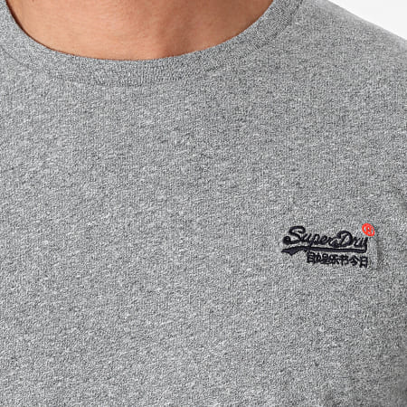 Superdry - Tee Shirt Manches Longues OL Vintage Embroidered M6040119A Gris Chiné