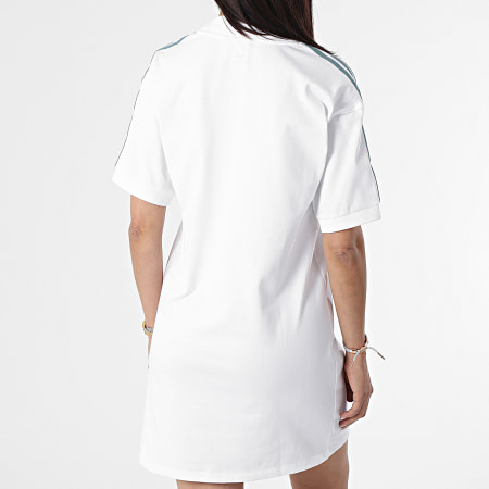 adidas - Robe Tee Shirt Femme A Bandes GN2848 Blanc