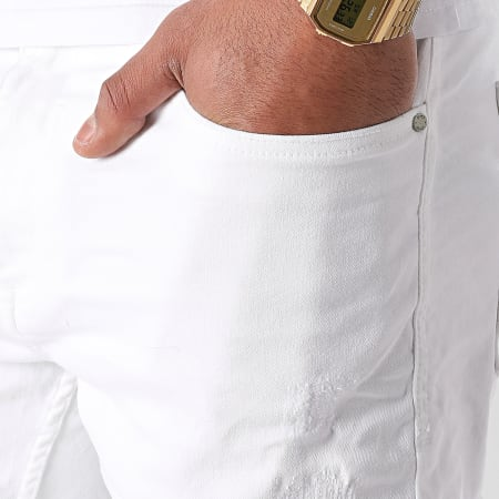 Blend - Short Jean Twister 20711954 Blanc