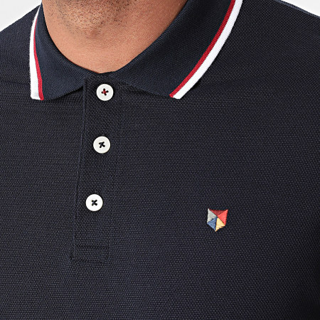 Jack And Jones - Polo Manches Courtes Bluwin Bleu Marine