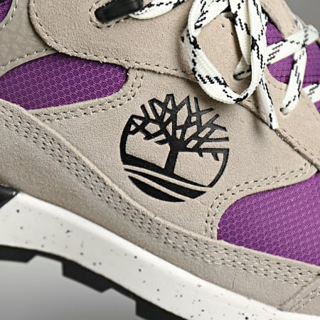 Timberland - Baskets Field Trekker LF Low Hiker A2R4A Light Taupe Suede With Purple