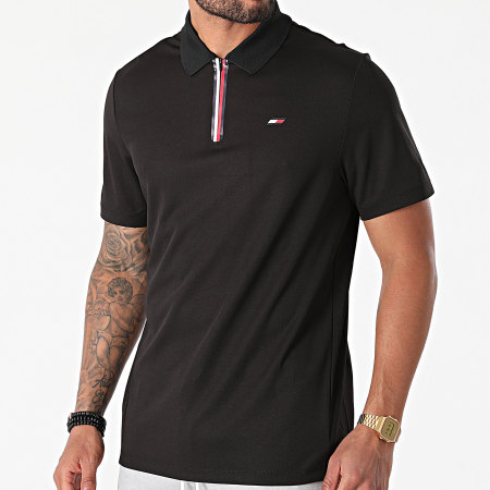Tommy Sport - Polo Manches Courtes Stripe Training 7270 Noir