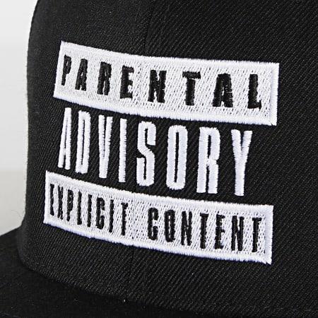 Parental Advisory - Casquette Snapback Explicit Content Noir