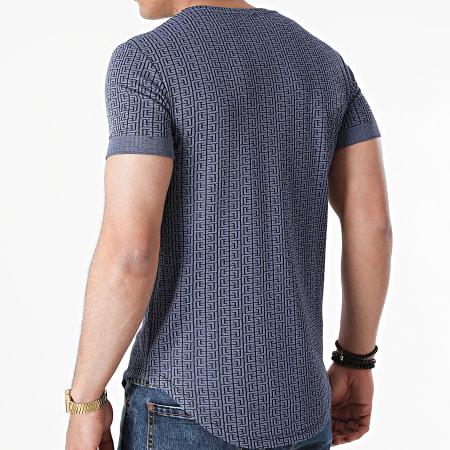 Uniplay - Tee Shirt Oversize UY643 Bleu Renaissance