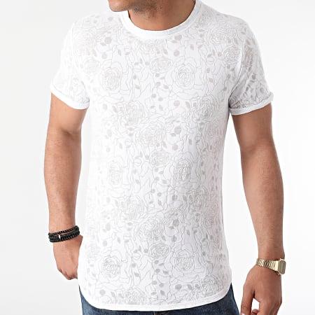 Uniplay - Tee Shirt Oversize T792 Blanc Floral