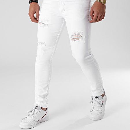 Black Industry - Jean Skinny P110 Blanc