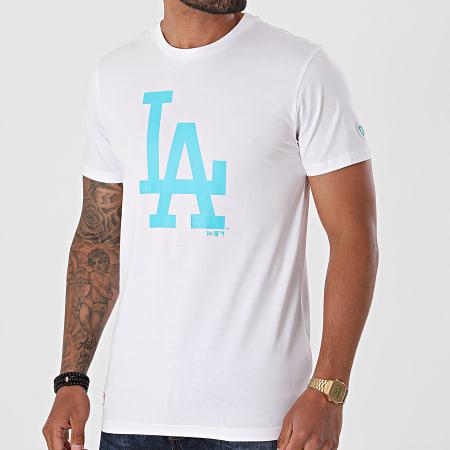 New Era - Tee Shirt MLB Seasonal Team Logo Los Angeles Dodgers 12720141 Blanc