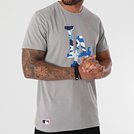 New Era - Tee Shirt MLB Camo Los Angeles Dodgers 12720168 Gris