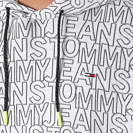 Tommy Jeans - Sweat Capuche Tommy AOP 204 Blanc