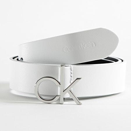Calvin Klein - Ceinture Femme CK Logo 6716 Blanc