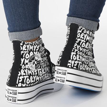 Converse - Baskets Femme All Stars Double Stack lift Hi 570321 Black Egret Dark Blue