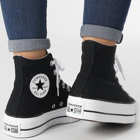 Converse - Baskets Femme All Stars Lift Hi 560845 Black White