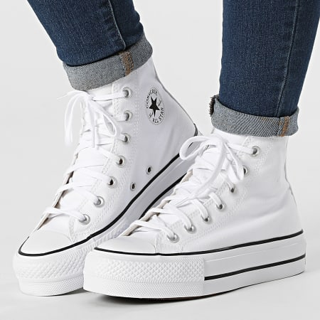 Converse - Baskets Femme All Stars Lift Hi 560846 White Black
