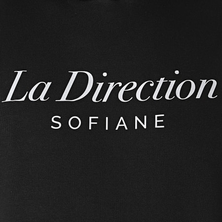 Sofiane - Sweat Capuche La Direction Noir Argenté