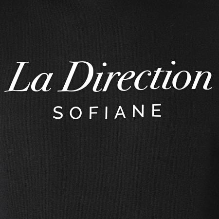 Sofiane - Sweat Capuche La Direction Noir Blanc