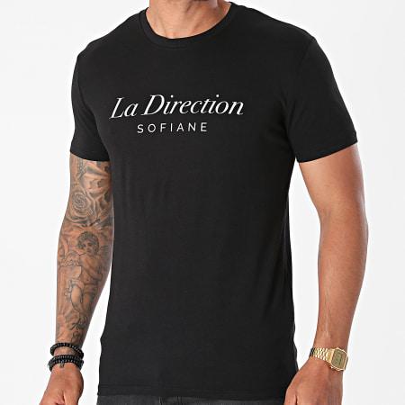 Sofiane - Tee Shirt La Direction Noir Argenté