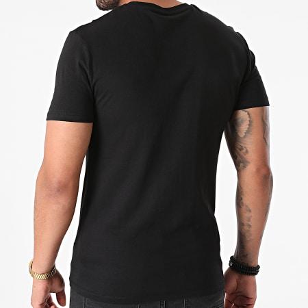 Sofiane - Tee Shirt Rentre Dans Le Cercle Noir Orange Fluo