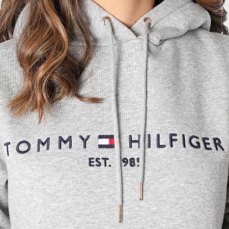 Tommy Hilfiger - Sweat Capuche Femme Heritage 1998 Gris Chiné