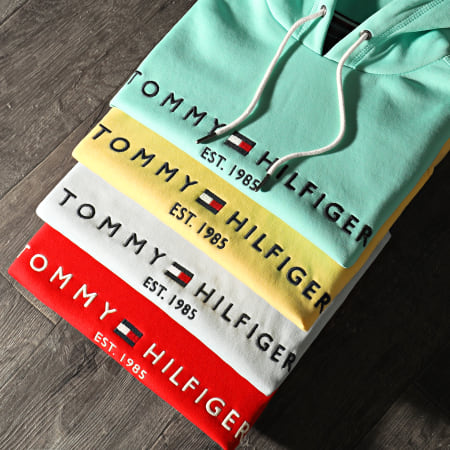 Tommy Hilfiger - Sweat Capuche Femme Heritage 1998 Blanc