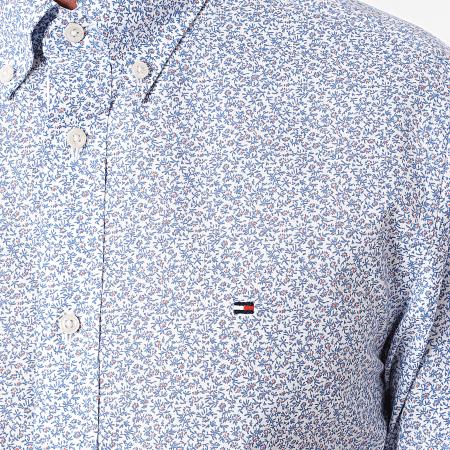Tommy Hilfiger - Chemise Manches Courtes Floral Soft Mini Print 8873 Blanc Bleu Ciel
