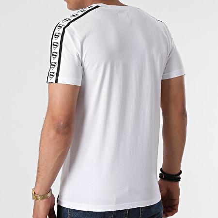 Superman - Tee Shirt BW Stripe Logo Blanc