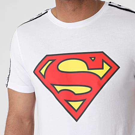 Superman - Tee Shirt Stripe Big Logo Blanc