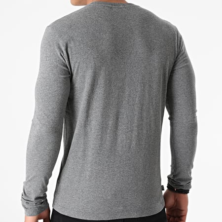 Superdry - Tee Shirt Manches Longues OL Vintage Embroidered M6010383A Gris Chiné