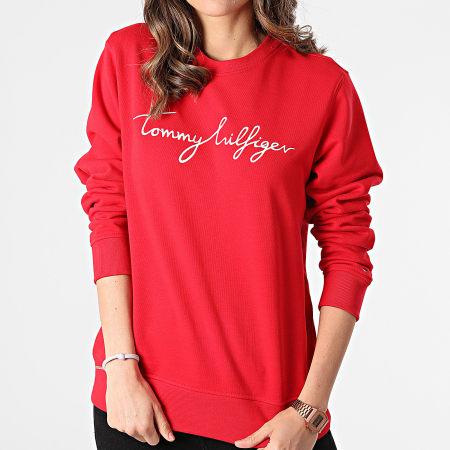Tommy Hilfiger - Sweat Crewneck Femme Regular Graphic C-nk 0659 Rouge